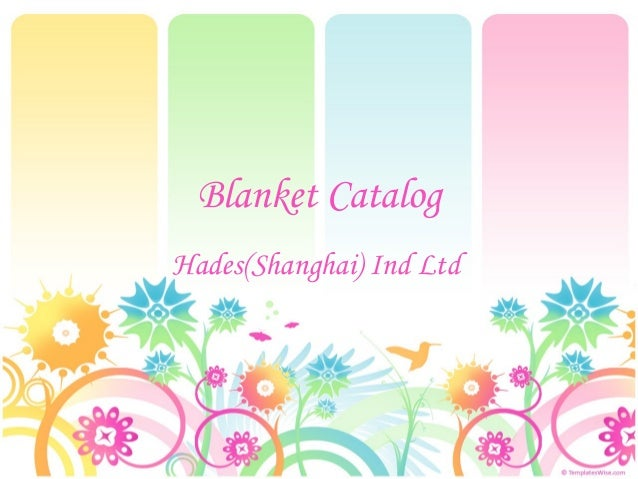 Blanket catalog  9 28