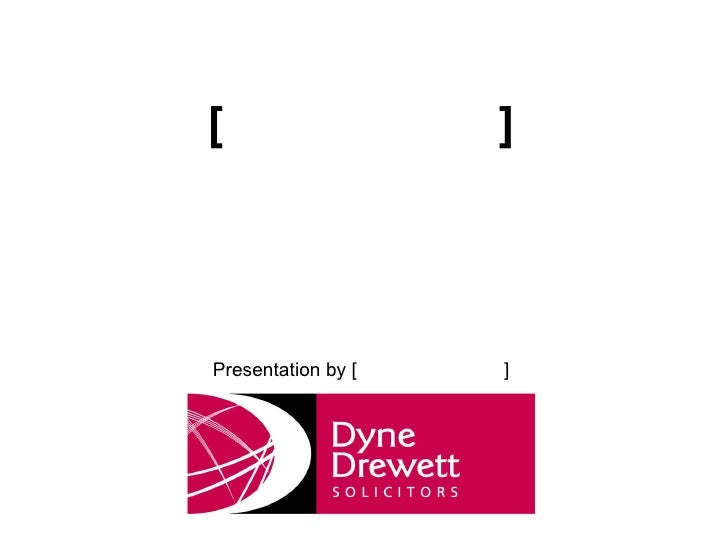 [ ] Presentation by [ ]