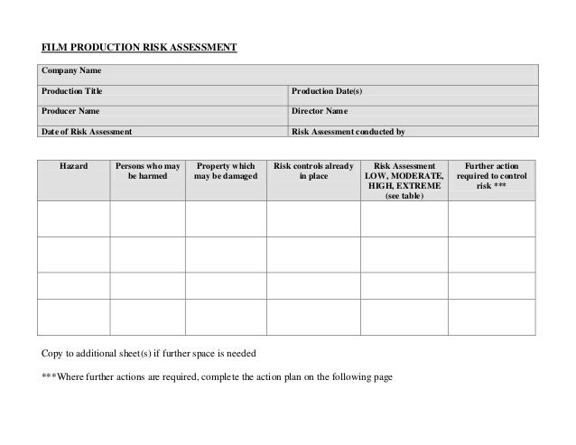 manual handling generic risk assessment