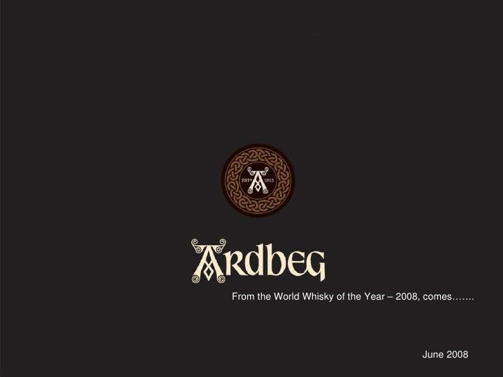 June 2008 From the World Whisky of the Year – 2008, comes…….
