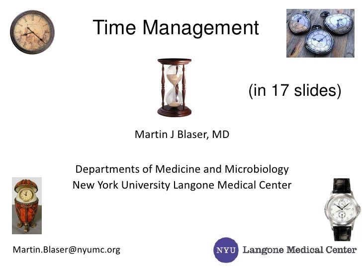 Successful Strategies for the Physician-Scientist: Time Management