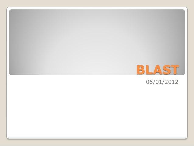 Blast bioinformatics