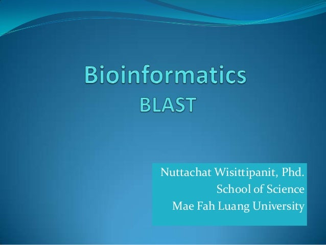 Nuttachat Wisittipanit, Phd. School of Science Mae Fah Luang University