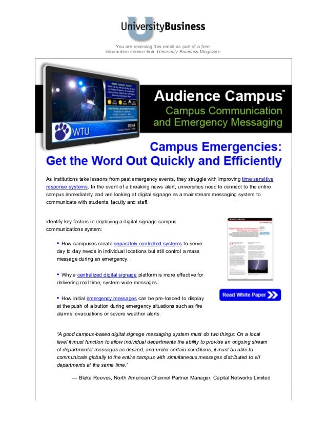 Blast audience campus