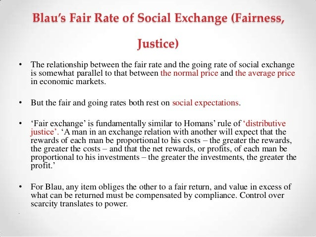 this essay is on blaus exchange theory Social exchange theory analyzes the nature and internal dynamics of individual acts of exchange as well as explaining the development of social systems eme essay on social exchange theory.