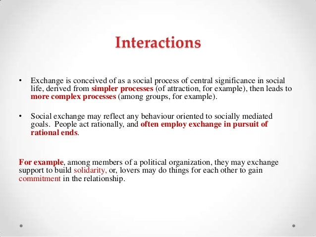 social exchange theory essay Free essay: social exchange theory 2 application of: the social exchange theory in everyday interactions people are always looking to have a positive.