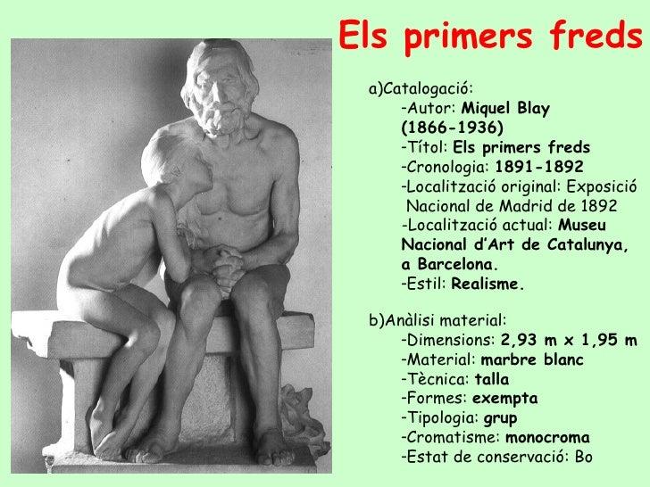 Els primers freds   <ul><ul><li>Catalogació:  </li></ul></ul><ul><ul><ul><li>Autor:  Miquel Blay (1866-1936) </li></ul></u...