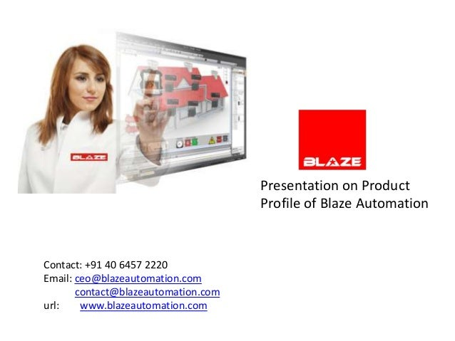 Blaze automation profile may 2012