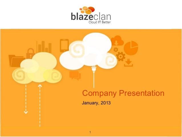 Company PresentationJanuary, 2013   1