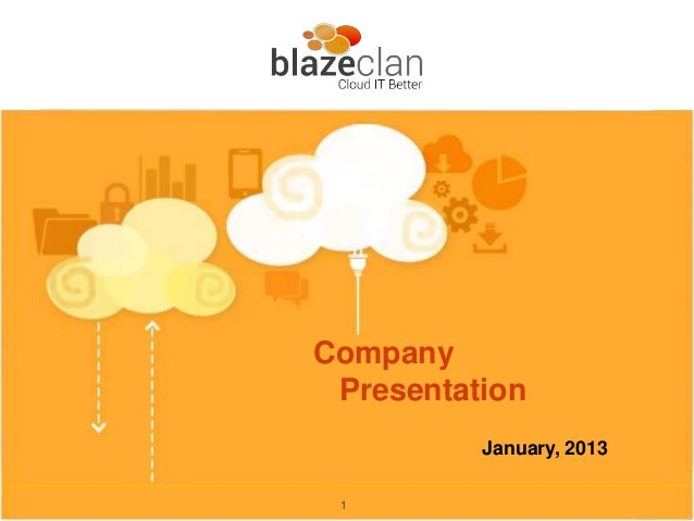Company Presentation          January, 2013 1