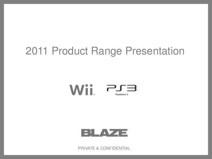 Blaze product range full