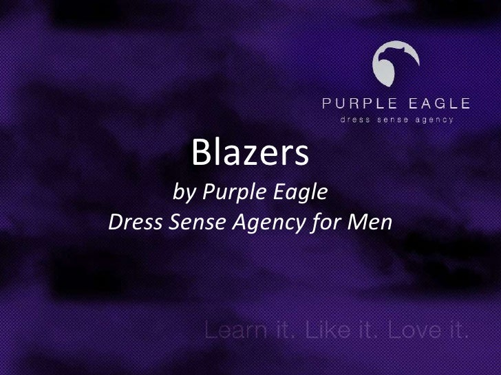 Blazersby Purple EagleDress Sense Agency for Men<br />