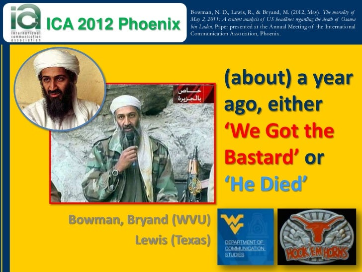 The Morality of May 2, 2011: A Content Analysis of US Headlines Regarding the Death of Osama bin Laden