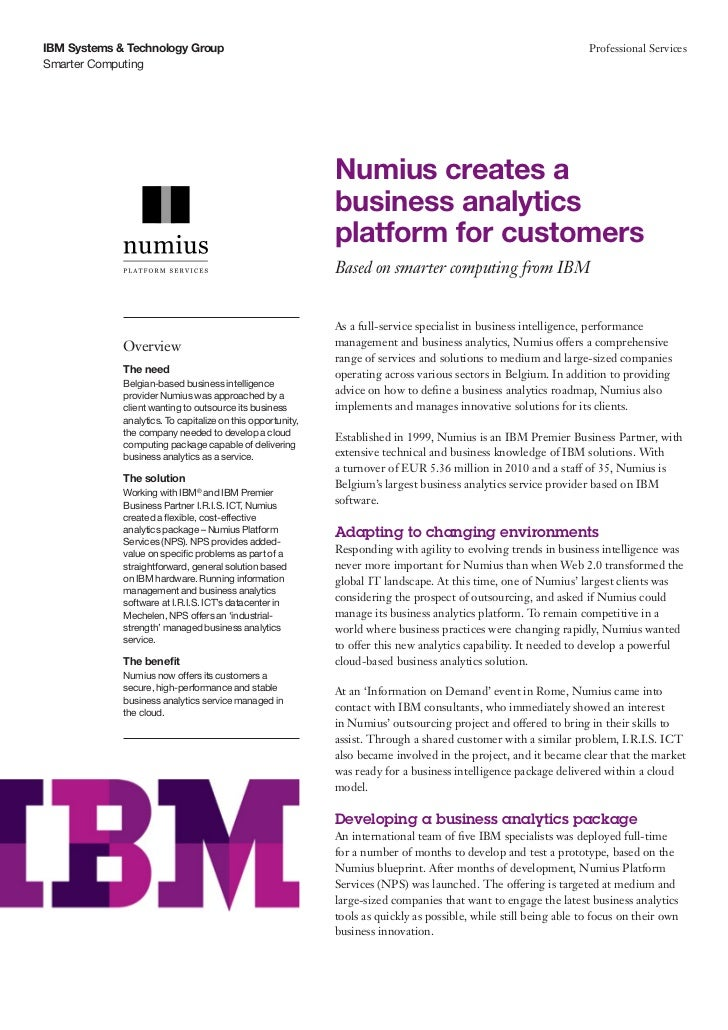Numius creates a business analytics platform for customers