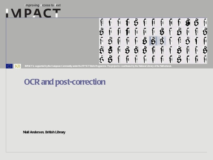 OCR and post-correction