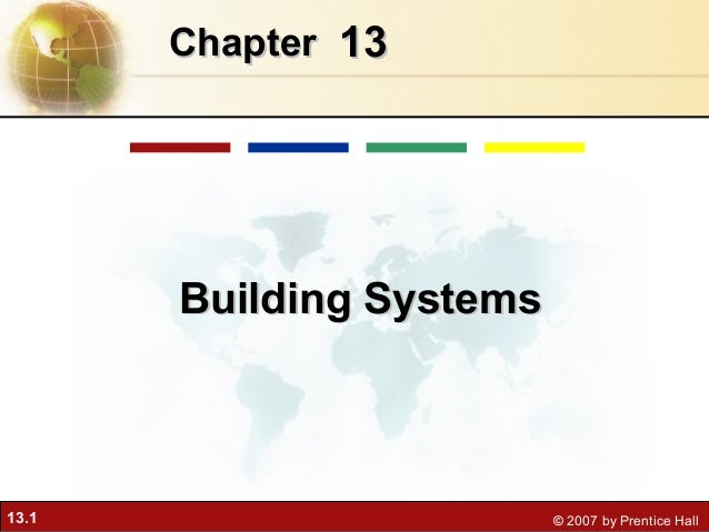 Chapter 13       Building Systems13.1                      © 2007 by Prentice Hall