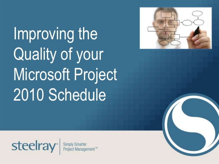 Improving theQuality of yourMicrosoft Project2010 Schedule
