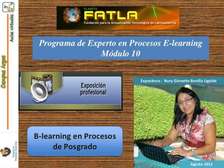 Blearning en procesos de posgrado nury
