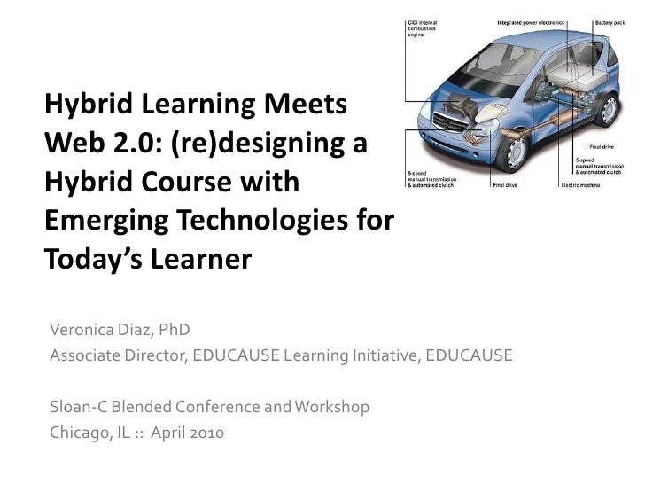 Hybrid Learning Meets Web 2.0: (re)designing a Hybrid Course with Emerging Technologies for Today's Learner <br />Veronica...