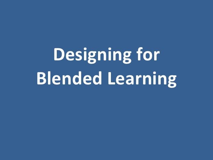Blended Course Design