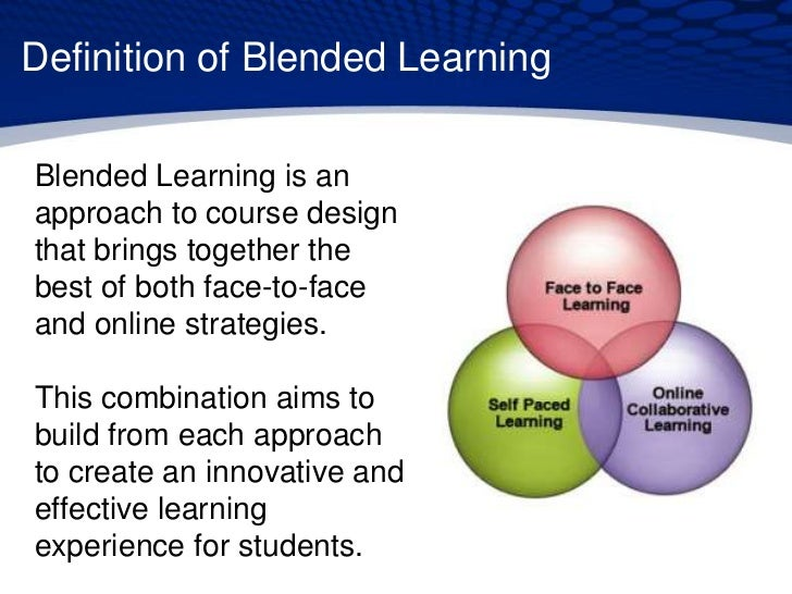 Innovative Classroom Definition : Blended learning