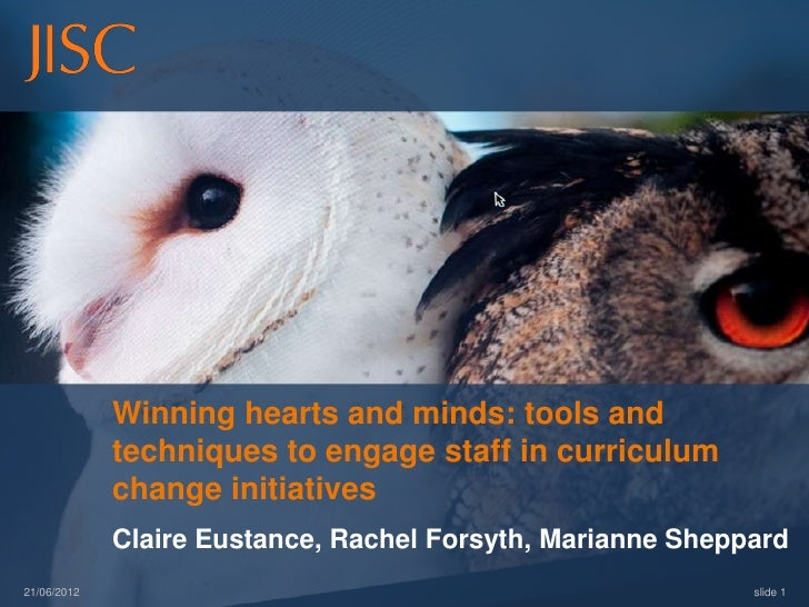Winning hearts and minds: tools and techniques to engage staff in curriculum change