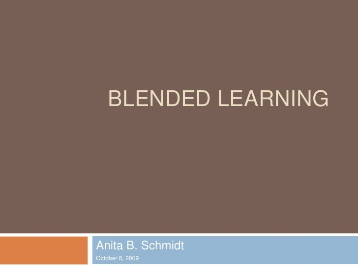 Blended Learning Chat N Chew 10 8 09