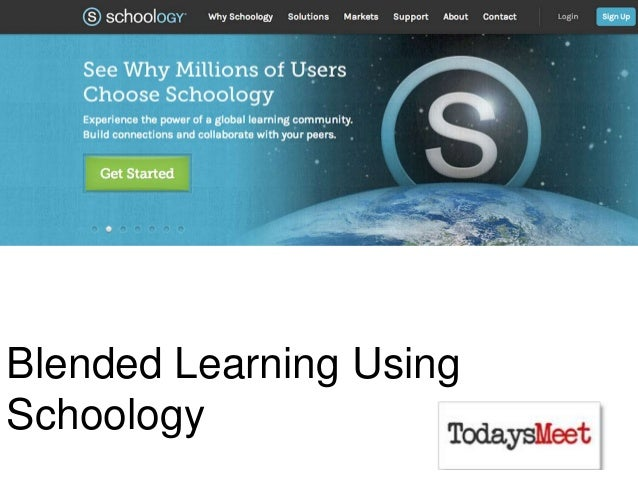 Blended Learning Using Schoology