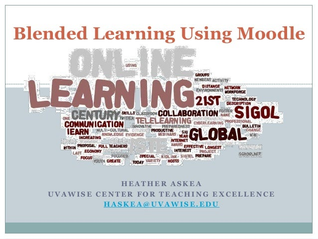 Blended learning using moodle