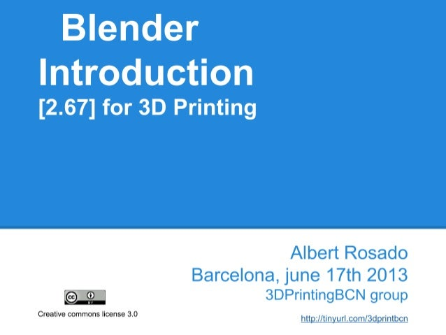 Blender Introduction for 3Dprinting