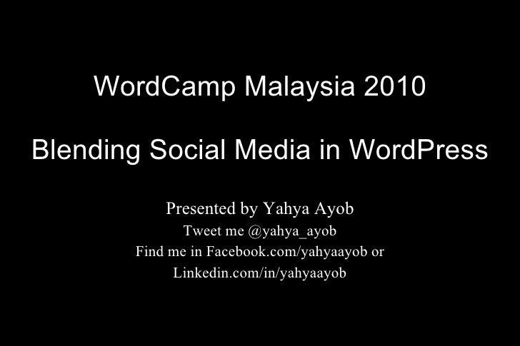 Blending Social Media in WordPress