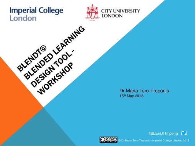 BLEnDT© - Blended Learning Design Tool Workshop at City University London