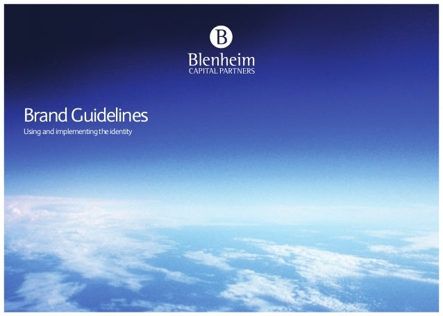 Blenheim brand guidelines by Neon