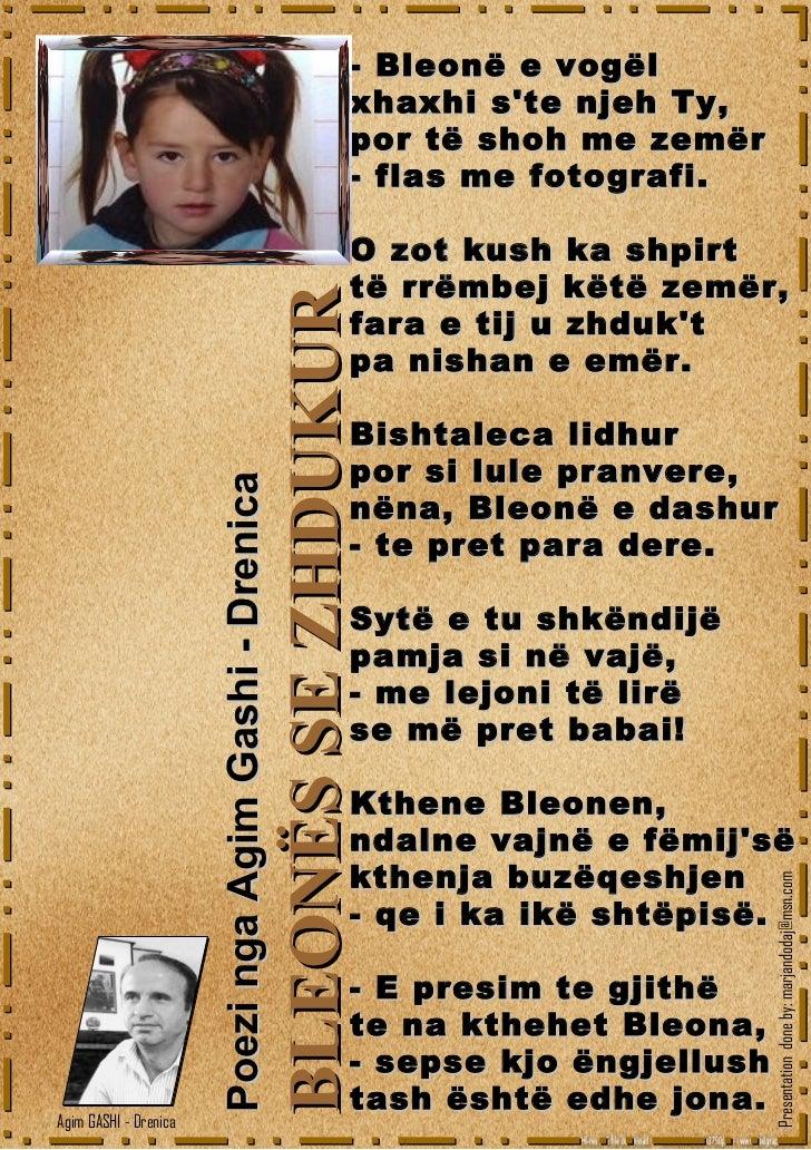 Bleones se zhdukur - poezi nga Agim GASHI - Drenica