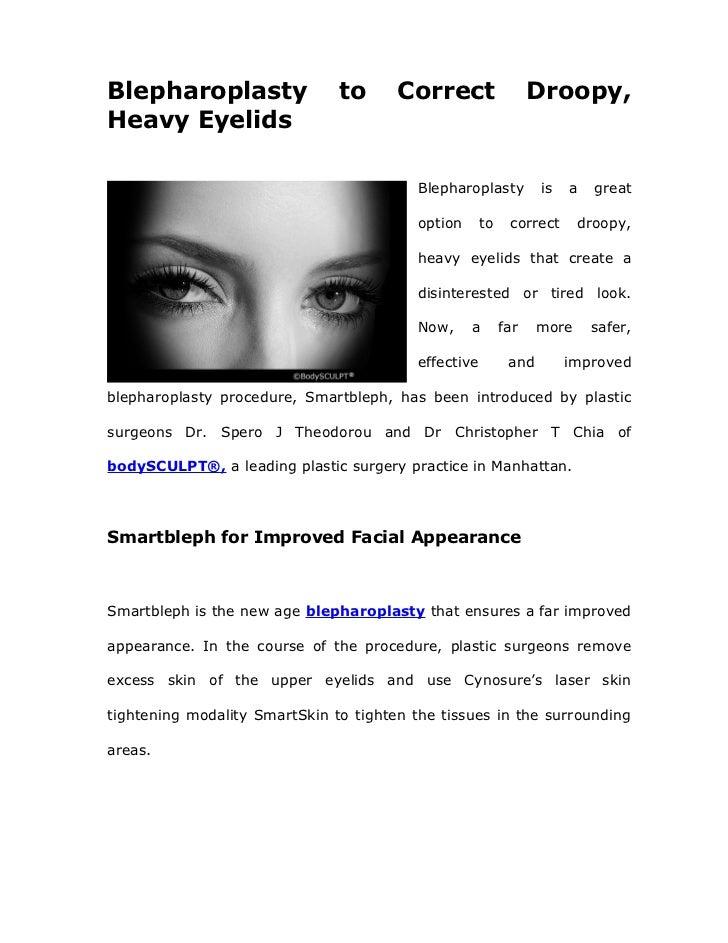 Blepharoplasty                 to      Correct                   Droopy,Heavy Eyelids                                     ...