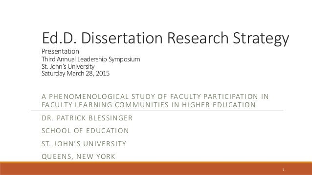 research strategy dissertation
