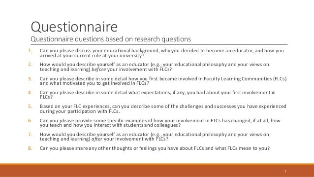 Dissertation questions in education