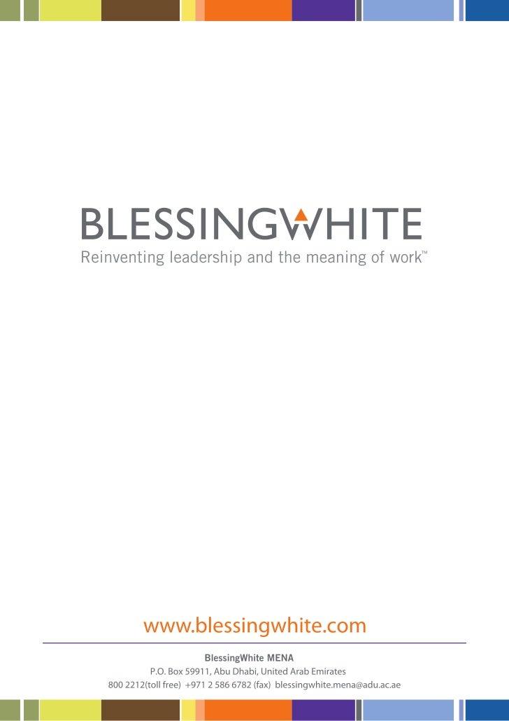 BlessingWhite MENA