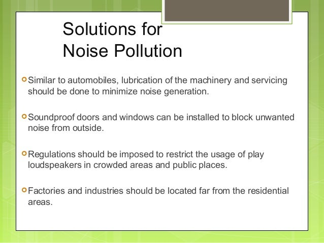 Noise pollution for How to reduce noise from windows