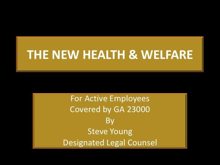 Blet the new health  welfare 12 9-11