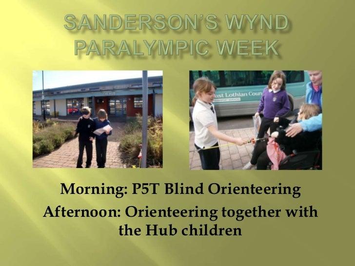 Blind orienteering