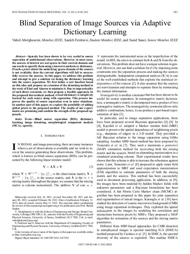 IEEE TRANSACTIONS ON IMAGE PROCESSING, VOL. 21, NO. 6, JUNE 2012                                                          ...
