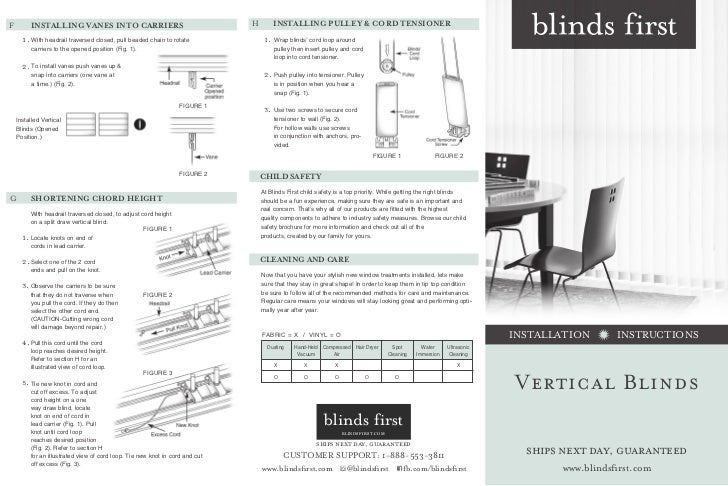 Blinds first how to install vertical