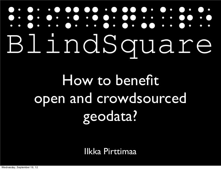 How to benefit                        open and crowdsourced                               geodata?                         ...