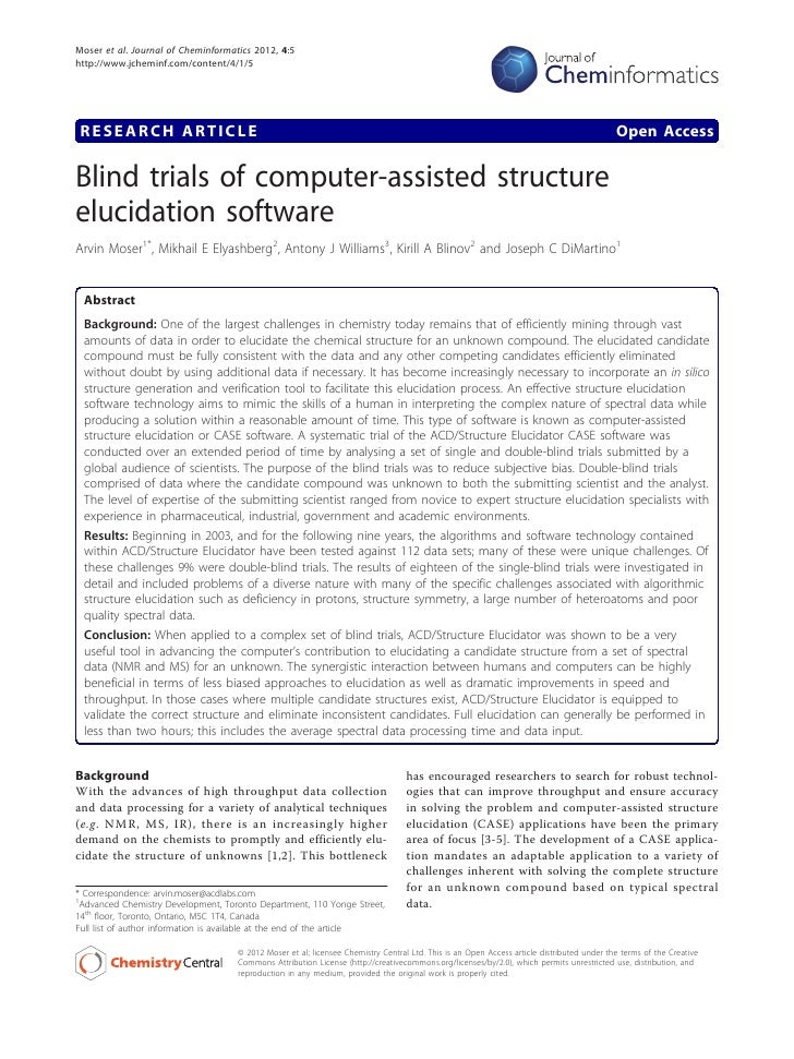 Blind trials of computer-assisted structure elucidation software