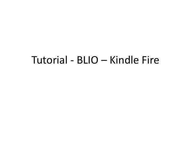 Blio para Kindle Fire: Libros-e