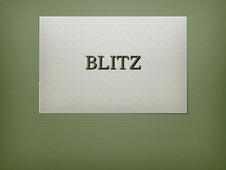 Blitz week 5