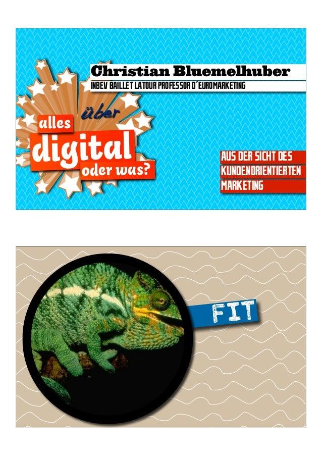 Prof. Dr. Christian Blümelhuber: Alles Digital oder was?
