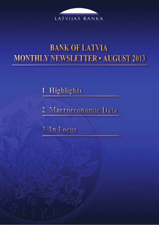 Monthly Newsletter 8/2013