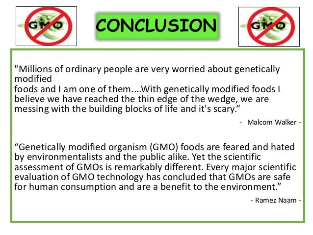 Term papers on gmos